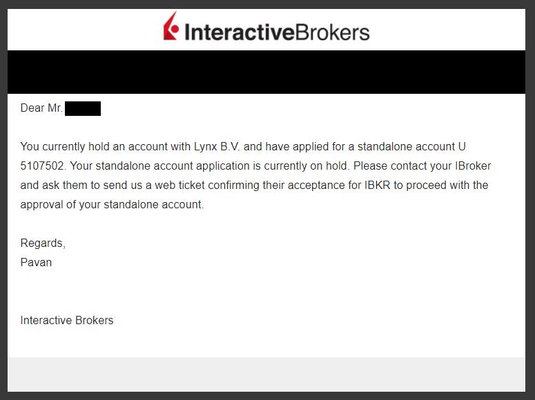 Interactive brokers zakázanie obchodovania keď mám Lynx